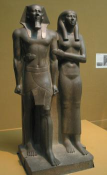 menkaure and queen khameremnebty This was the modern world's first glimpse of one of humankind's artistic masterworks, the statue of menkaure and queen the two figures stand side-by-side, gazing into eternity he represents the epitome of kingship and the ideal human male form.