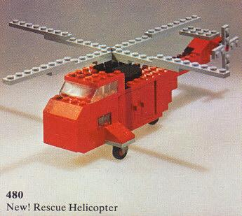 My first Lego set, the #480 rescue helicopter