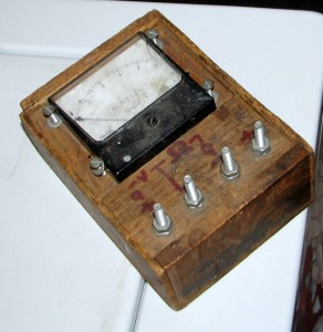 The voltmeter my Dad built to test mats for automatic doors.