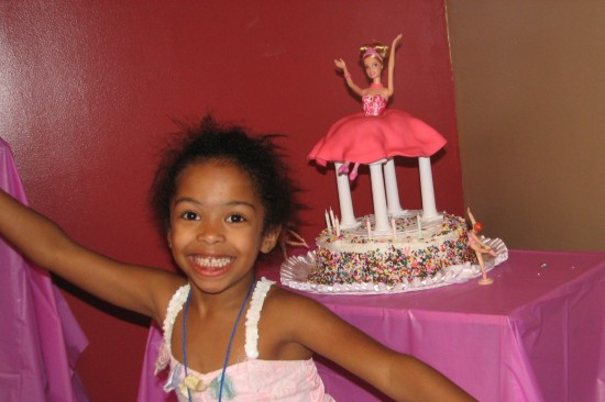 Here's a ballerina cake Nichelle made for Naomi.