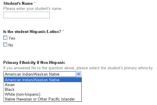 """Racial"" Questionnaire"