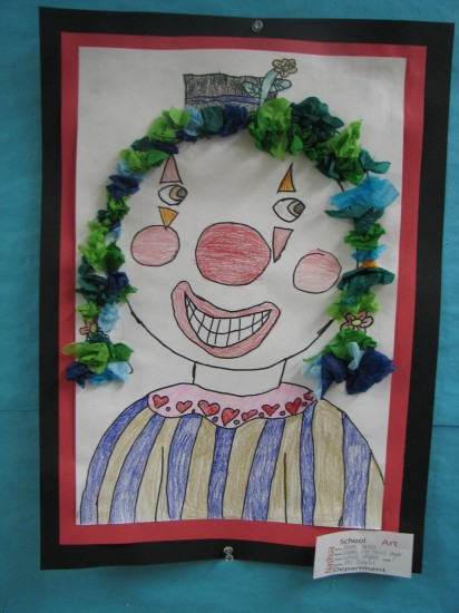 Naomi's Art on Display at the Nashua School System Offices.