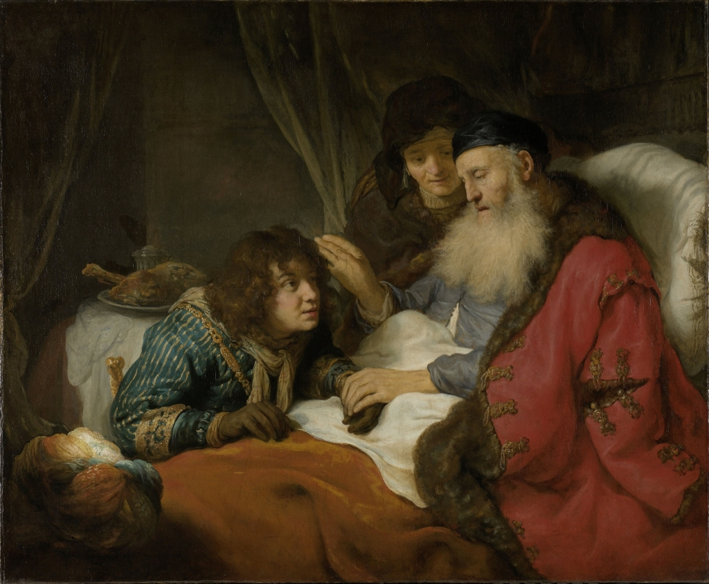 (Image: Isaac Blessing Jacob, Govert Flinck, oil on canvas, 1638, currently in the Rijksmuseum, Amsterdam.)