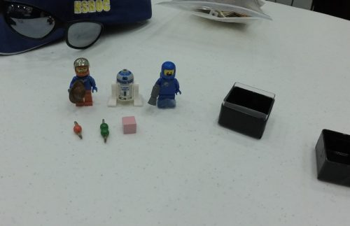And here they are, reassembled, along with Benny, who was glued into another part of the payload module