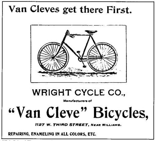 1897 Van Cleve Ad