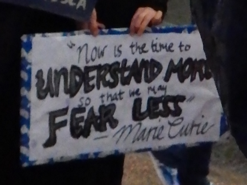 """""""Now is the time to understand more so that we may fear less."""" Marie Curie"""