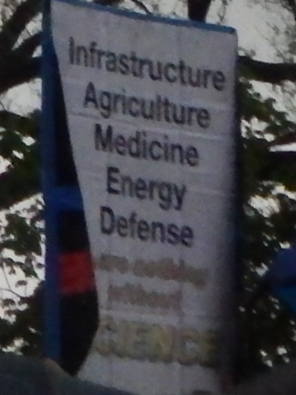 Infrastructure, Agriculture, Medicine, Defense - are nothing without science.