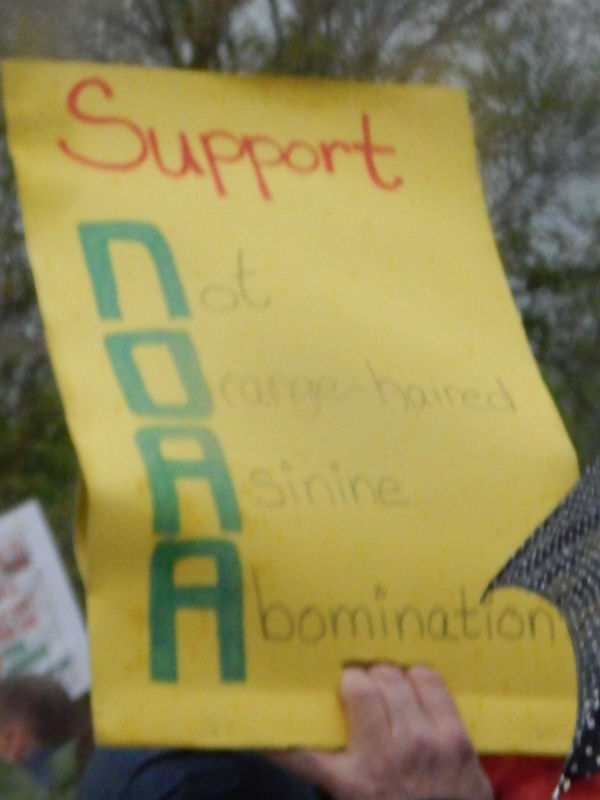Support NOAA, Not Orange-haired Asinine Abomination