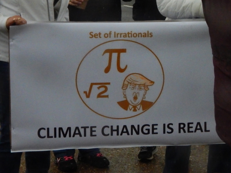 Set of Irrationals. (Pi, square root of 2, and Trump). Climate Change Is Real.