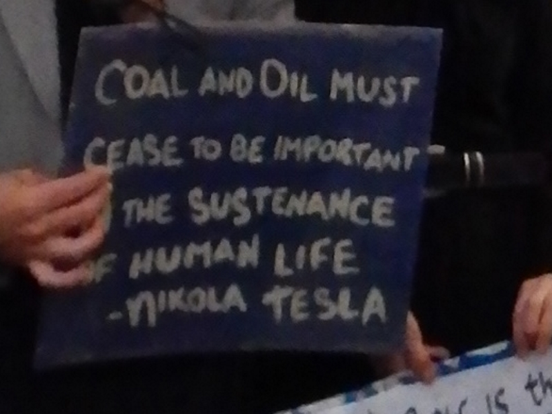 """""""Coal and oil must cease to be important to the sustenance of human life."""" —Nikola Tesla (This is an abbreviated quotation, from: """"Long before this consummation, coal and oil must cease to be important factors in the sustenance of human life on this planet. """")"""