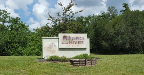 Main sign for Hospice House
