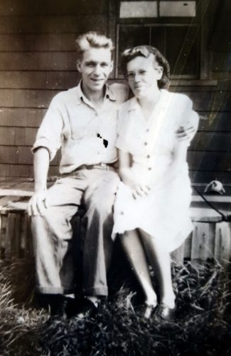 Mom and Dad, long ago.