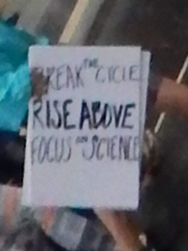Break the Circle. Rise Above and Focus on Science