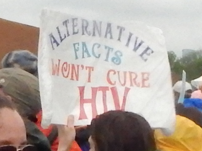 Alternative Facts Won't Cure HIV.