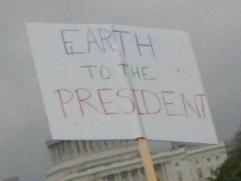 Earth to the President ...