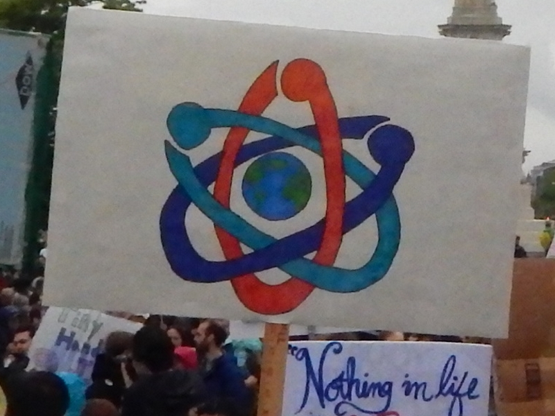 Banner with the Science March logo