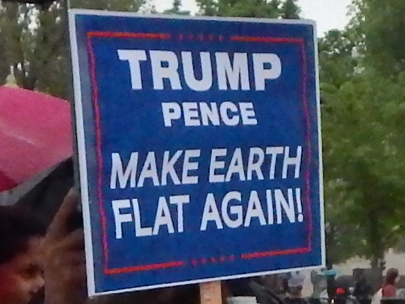 Trump Pence. Make Earth Flat Again.