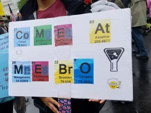 Come at me, bro! (Written with Periodic Table symbols.)